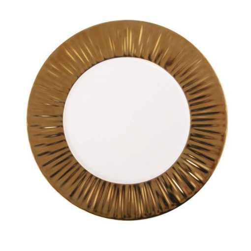 Show Plate With Matte Gold Rim