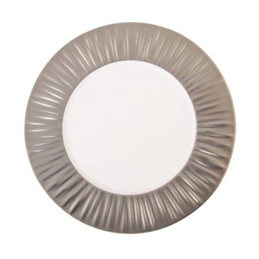 Show Plate With Matte Silver Rim