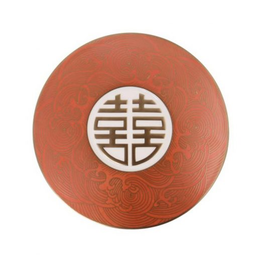 Round Show Plate With Double Happiness Emboss