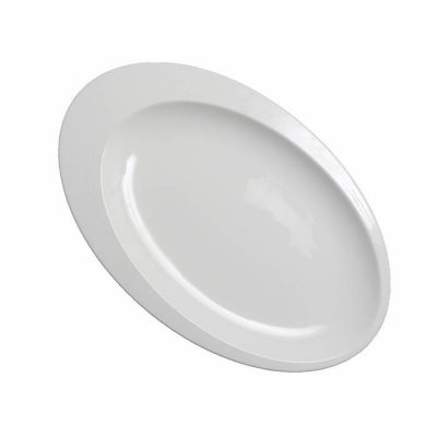 Oval Plate With Rim