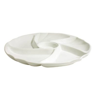 5+1 Round Compartment Plate