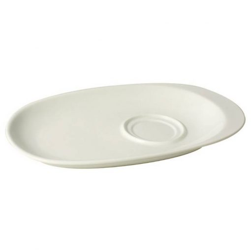 Oval Plate With Double Well Compartment