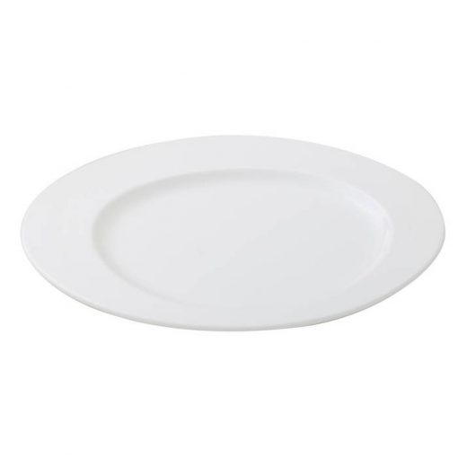 Oval Plate With Semi-Circle Indent