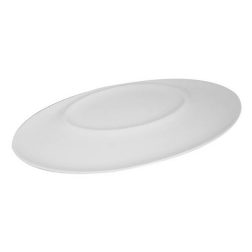 Oval Plate With Oval Indent