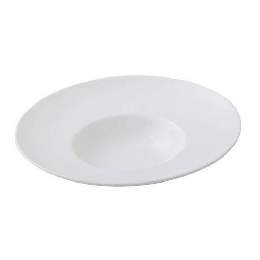 Round Pasta Plate With Matte Rim